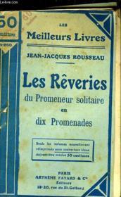 Les Reveries Du Promeneur Solitaire En Dix Promenades - Couverture - Format classique