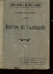 Histoire De L'Antiquite - Classe De Sixieme - Couverture - Format classique