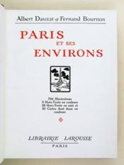 Paris et ses environs. - Couverture - Format classique