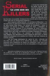 Le livre noir des serial killers - 4ème de couverture - Format classique