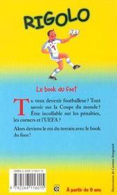 Rigolo t.26 ; le book du foot - 4ème de couverture - Format classique
