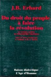 Du Droit Peuple A Faire Revolution - Couverture - Format classique