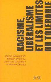 Racisme Liberalisme Et Les Limites Du Tolerable - Intérieur - Format classique