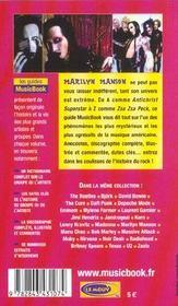 Marilyn Manson De A A Z - 4ème de couverture - Format classique