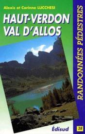 Haut-Verdon, Val d'Allos ; randonnées pédestres - Couverture - Format classique