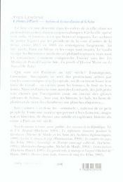 Crimes A Paris Archives - 4ème de couverture - Format classique