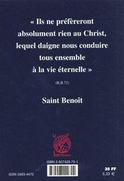 Saint benoit ecoute - 4ème de couverture - Format classique