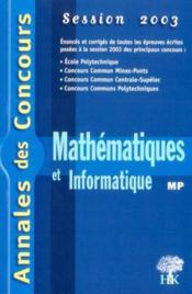 Mathematiques-informatique - Couverture - Format classique