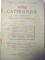 Revue Catholique de Bordeaux. Paraissant le 10 et le 25 de chaque mois. (XIVe année, n° 1). - Couverture - Format classique