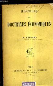 Histoire Des Doctrines Economiques. - Couverture - Format classique