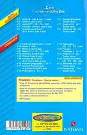 Francais Toutes Series - 4ème de couverture - Format classique