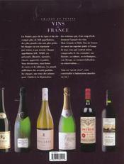 Grands et petits vins de france ; edition 2002 - 4ème de couverture - Format classique