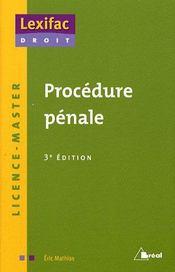 Procédure pénale (3e édition) - Intérieur - Format classique
