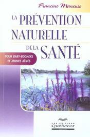 La Prevention Naturelle De La Sante - Intérieur - Format classique