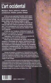 Tout Savoir Sur Art Occidental - 4ème de couverture - Format classique