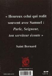 Saint bernard et la priere - 4ème de couverture - Format classique