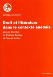 Droit et litterature contexte suedois - Couverture - Format classique