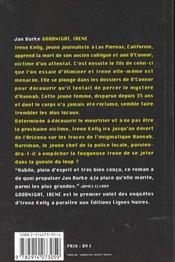 Goodnignt irene - 4ème de couverture - Format classique