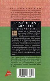 Les medecines douces - 4ème de couverture - Format classique