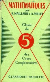 MATHEMATIQUES ET DESSIN GEOMETRIQUE, CLASSE DE 5e - Couverture - Format classique