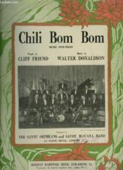 Chili Bom Bom - Song Fox Trot - Piano + Voice. - Couverture - Format classique