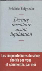 Dernier Inventaire Avant Liquidation. - Couverture - Format classique