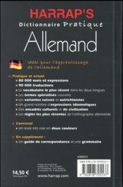 Harrap's pratique allemand - 4ème de couverture - Format classique