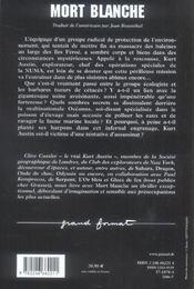 Mort blanche - 4ème de couverture - Format classique