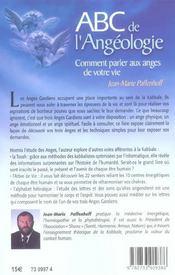 Abc De L'Angeologie - 4ème de couverture - Format classique