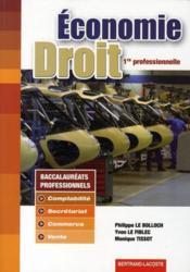 Dossiers et études ; économie-droit ; 1ère professionnelle tertiaire ; manuel de l'élève - Couverture - Format classique