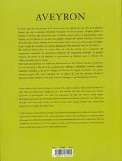 Aveyron - 4ème de couverture - Format classique