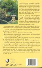 Feng chouei des jardins (le) medicis - 4ème de couverture - Format classique