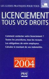 Licenciement, Tous Vos Droits - Intérieur - Format classique