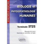 Contrôle continu ; biologie-physiopatholgie humaines ; terminale ST2S - Couverture - Format classique
