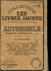 Collection Les Livres Jaunes N°11 - Automobile - Description - Entretien - Conduite - Couverture - Format classique