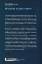 Histoires pragmatiques - 4ème de couverture - Format classique