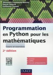 Programmation en Python pour les mathématiques (2e édition) - Couverture - Format classique