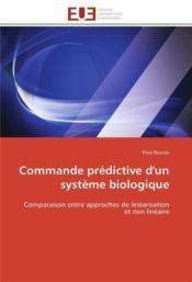 Commande Predictive D'Un Systeme Biologique - Couverture - Format classique