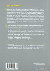 Droit du travail, 13e édition - 4ème de couverture - Format classique