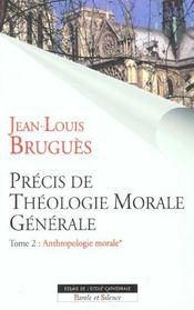 Precis de theologie morale generale t2 vol1 - Intérieur - Format classique