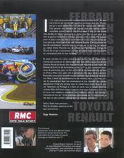 Formule 1 2005 une saison de grand prix (édition 2005) - 4ème de couverture - Format classique