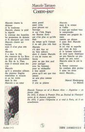 Contre-Jour : Cahier De Chansons D'Emigration ... - 4ème de couverture - Format classique