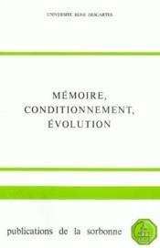 Mémoire, conditionnement, évolution - Couverture - Format classique