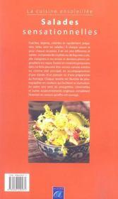 Salades sensationnelles ; la cuisine ensoleillee - 4ème de couverture - Format classique