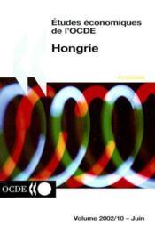 Etudes economiques de l'ocde hongrie volume 2002-10 - Couverture - Format classique