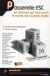 Reussir Les Admissions Paralleles Dans Les Ecoles De Commerce - 4ème de couverture - Format classique