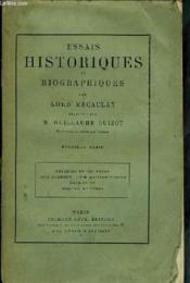 Essais Historiques et Biographiques .1ère et 2ème séries. - Couverture - Format classique