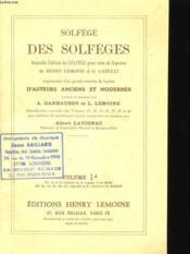 Des Solfeges - Volume 1 - Couverture - Format classique