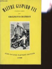 Maitre Gaspard Fix Et Autres Contes - Couverture - Format classique