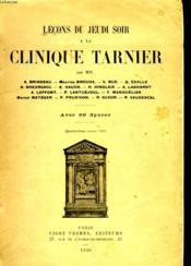 Lecon Du Jeudi Soir A La Clinique Tarnier - Couverture - Format classique